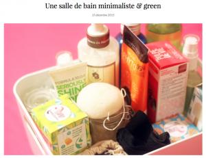 salle de bain minimaliste vegan bio naturel brownskinblog