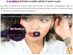 wildbeauty jesuismodeste diy famille nourrir sa peau enfant homme adulte femme sèche corps naturel bio green minimaliste youtube conseils