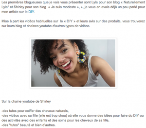 jesuismodeste diy homemade cosmétique bio naturel green fait maison atelier french amazing women blog youtube influencer naturellement lyla alice esmeralda brownskin