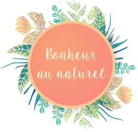 Logo bonheur au naturel parution jesuismodeste blog