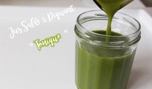 Vert Salé Piquant tonique tonic extracteur de jus legume fruit vitamine centrifugeuse hurom omega