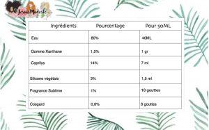 recettes ingrédients NHA Gel coiffant jesuimodeste blog