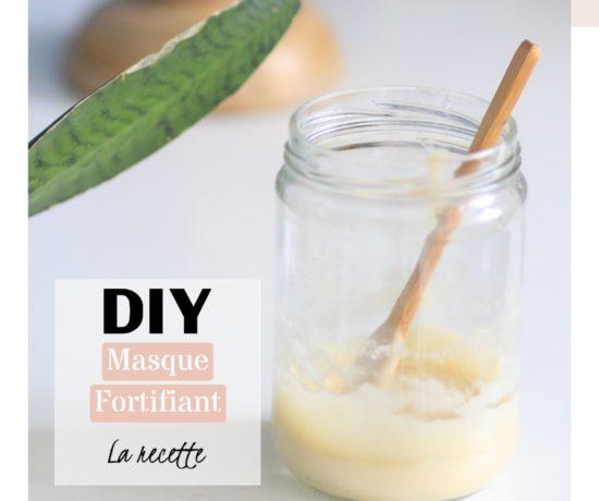 Masque capillaire cheveux naturel lait de coco fortifiant